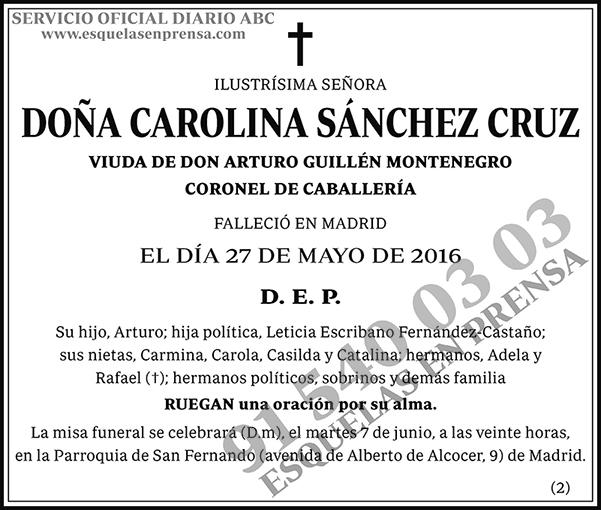 Carolina Sánchez Cruz